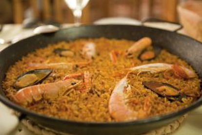 A real paella should be made over a fire in the open air.