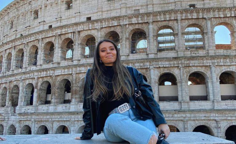 Spanish Erasmus student Cristina Santiago, who has returned home from Madrid.