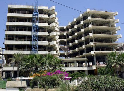 New properties under construction in Estepona.