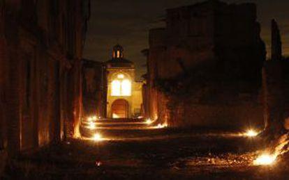 The abandoned village of Belchite in Zaragoza.