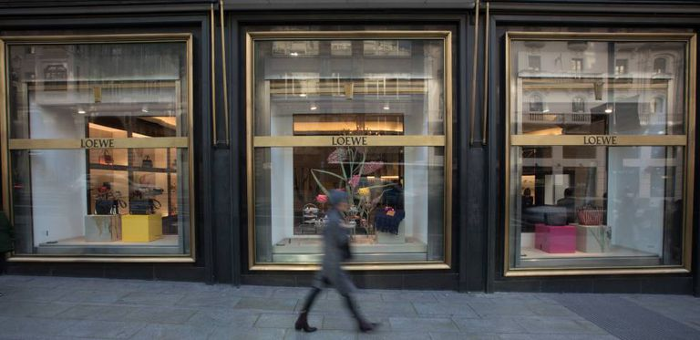 A Loewe storefront in Madrid.