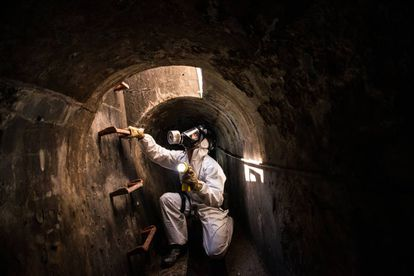 A routine inspection of the Barcelona sewers.