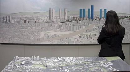 A mock up of the proposal to transform the north of Madrid.