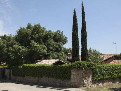 Pablo Iglesias and Irene Montero's home in Galapagar.