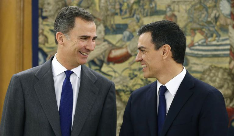 King Felipe VI met with Socialist leader Pedro Sánchez on Friday.