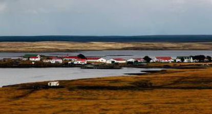 Goose Green, the third largest settlement in the Falkland Islands.