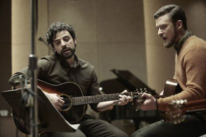 Oscar Isaac (left) and Justin Timberlake in Inside Llewyn Davis.