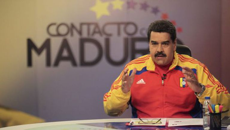 President Nicolás Maduro during one of his weekly television programs.