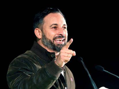 Vox leader Santiago Abascal campaigning in Seville on Monday.