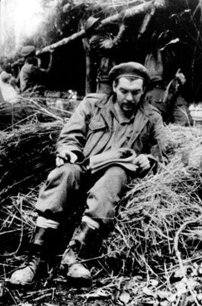 Che Guevara in the Bolivian jungle.