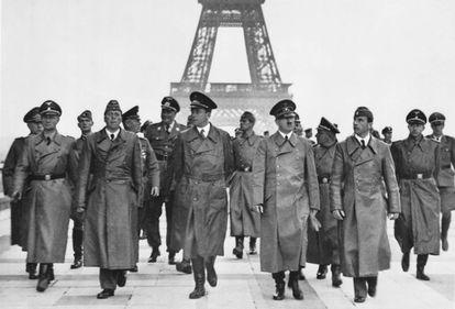 Adolf Hitler in occupied Paris in June 1940.
