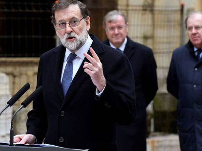 Spanish Prime Minister Mariano Rajoy in León.