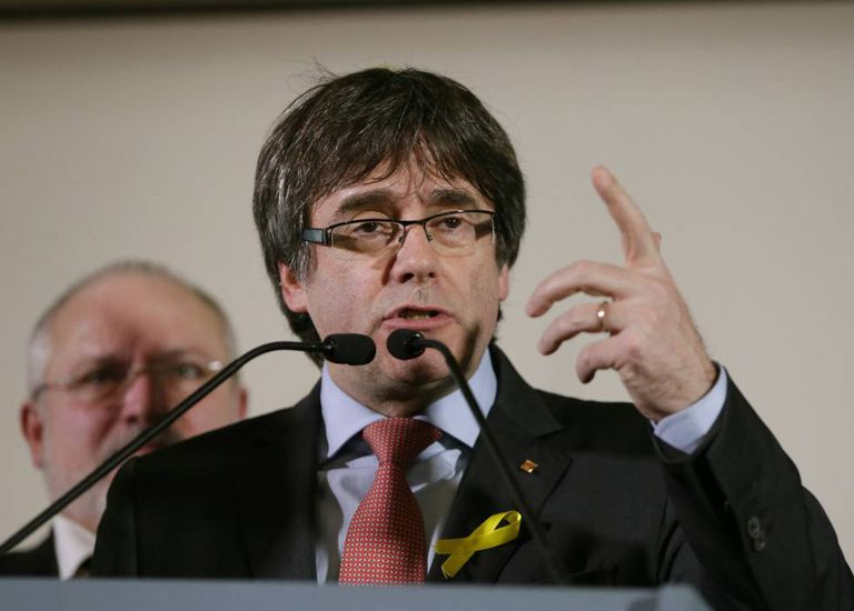 Carles Puigdemont on the night of December 21 after learning of the results of the Catalan election.