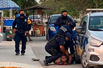 The moment of Salazar's arrest, captured by videos on social media.