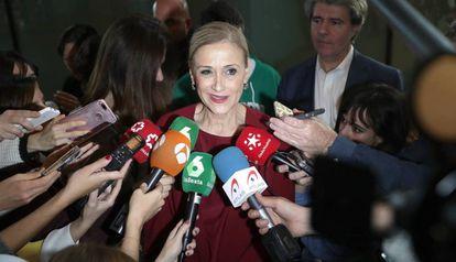Madrid regional leader Cristina Cifuentes.