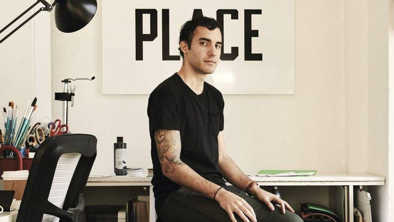 Designer Pablo Delcán, in his studio in New York City.