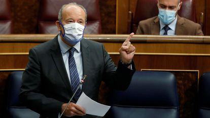 Justice Minister Juan Carlos Campo in Congress.