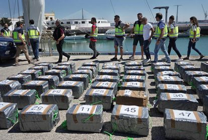 The police seized 1.5 tons of cocaine from a yacht in Cádiz.
