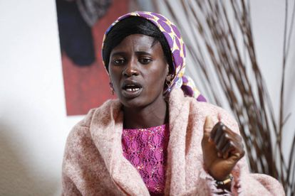 Rebeca Bitrus, who was held captive by Boko Haram for two years, in Madrid on Monday.