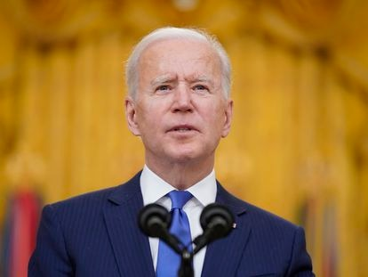 Joe Biden during his speech on International Women's day on March 8.