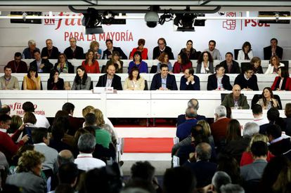 Monday morning's PSOE Federal Committee meeting.