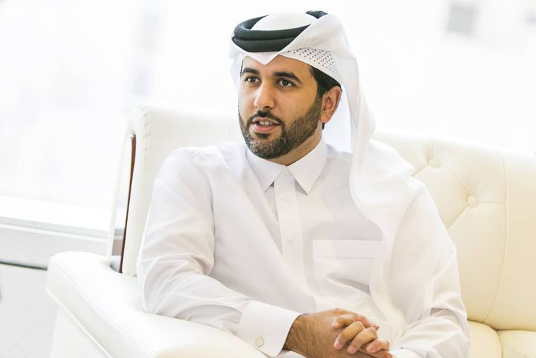 Saif Ahmed Al Thani, Director of Qatar's Government Communications Office, during the interview.