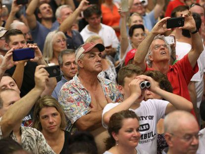 Trump supporters at a meeting in Connecticut.