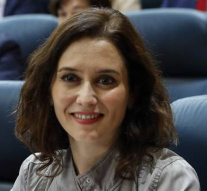 Isabel Diaz Ayuso, the Popular Party candidate for Madrid premier.