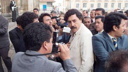 Javier Bardem playing Pablo Escobar in 'Loving Pablo.'