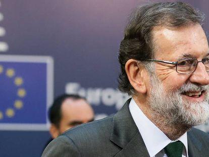 Spaniish PM Mariano Rajoy at the EU Council summit.