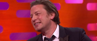 Is Jamie Oliver laughing or crying after being confronted with these Spanish tweets?