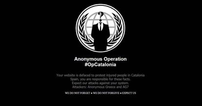 A DoS attack by Anonymous.