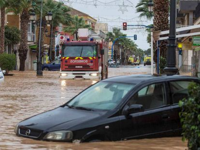 The effects of the storm in the Mediterranean region.