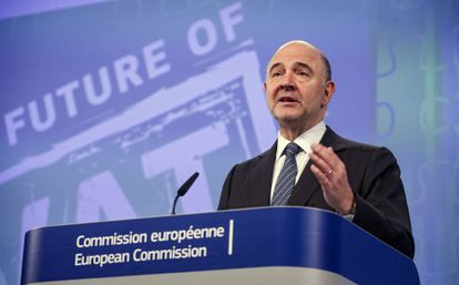 The European economic commissioner, Pierre Moscovici.