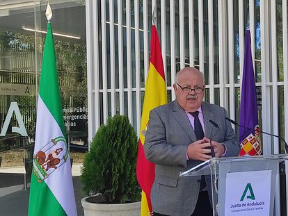 Andalusian regional health chief Jesús Aguirre pictured on Thursday.