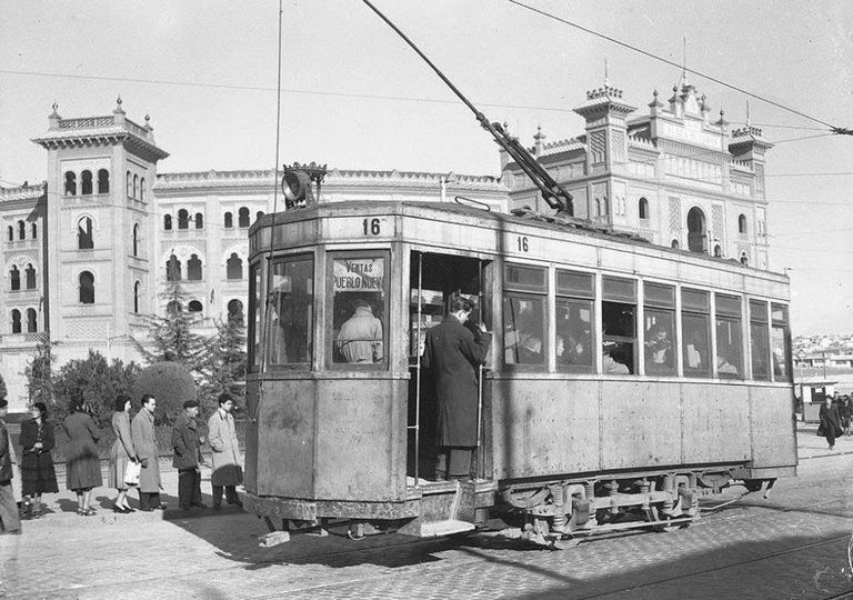 An old tram in Madrid.