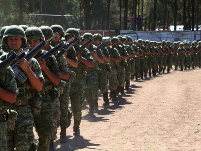 Soldiers training in Mexico.