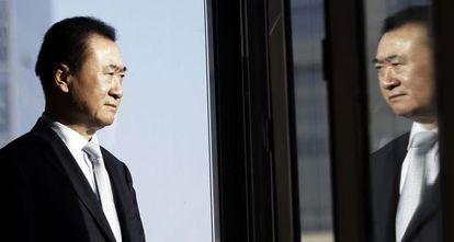 Wang Jianlin, president of Chinese property firm Wanda Group, in his Beijing office.