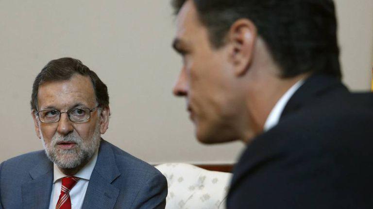 Mariano Rajoy and Pedro Sánchez meet on Wednesday.