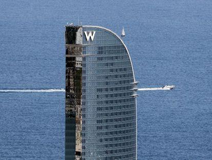 The Hotel W in Barcelona.