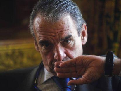 Mario Conde during a 2012 interview.