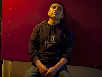 Oliverto Pérez, 35, at a hostel in Mexico City.