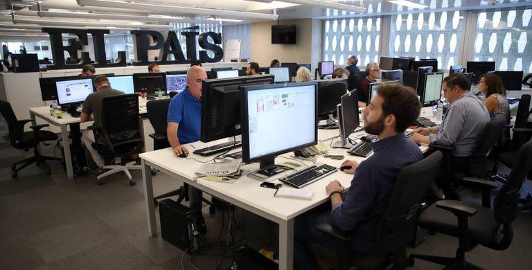 The Madrid newsroom of EL PAÍS.