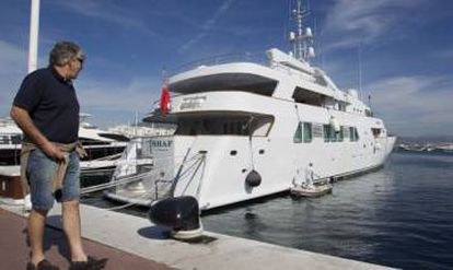 Puerto Banús, a playground to the rich. Pictured, a yacht owned by King Salman of Saudi Arabia.