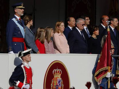 KIng Felipe VI, Queen Letizia and their children Leonor and Sofía.