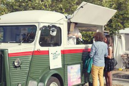 This mobile vendor specializes in selling wine.