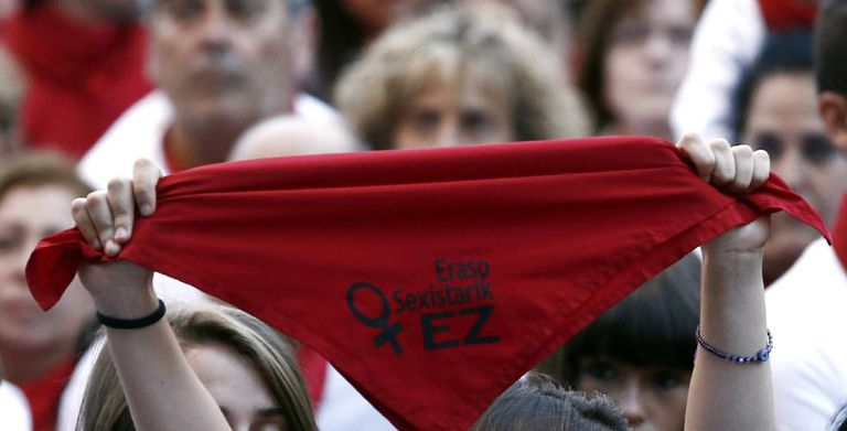 Monday's protest against sexual assaults in Pamplona.
