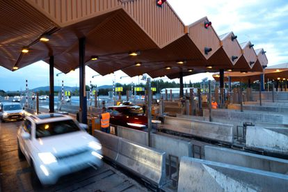 The toll plaza at La Roca del Vallés (Barcelona) after barriers were lifted for good on August 31.