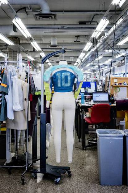 All the outfits are made at a workshop inside Cirque du Soleil headquarters in Montreal.