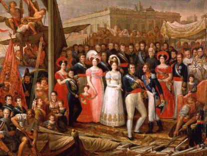 A copy of the rediscovered 'El desembarco de Fernando VII en el Puerto de Santa María.'